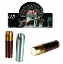 Silver Bullet Mini Metal Pocket Light / Torch with 12 LEDS