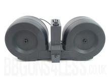 SRC hi cap 2300 round electrical drum mag for SR G36 type guns