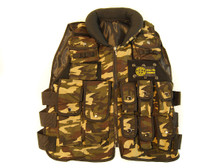 Well Fire Combat Tactical Vest with button pockets in dpm camo