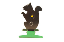 free standing knockdown squirrel metal target