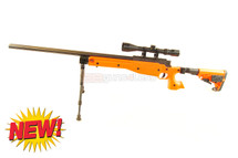 Well MB14Airsoft Sniper Rifle with scope & bipod in orange