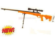 Well MB12 Airsoft Sniper Rifle with scope & bipod in orange