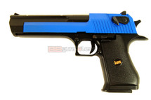 HFC HG195 Desert Eagle Hardkick Version .50 Full Metal GBB Pistol Blue