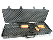 Airsoft gun carry case in Tough plastic large size in Tan
