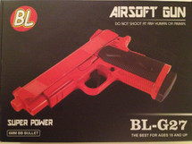 BL-G27 Full Metal Spring Pistol in Orange