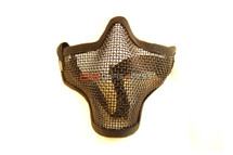 Iron Face Lower Mesh Airsoft Mask Lower Face in black