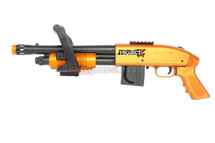 Project Z Chainsaw Airsoft spring powered Shotgun in orange