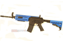 Cyma CM016 M4 SIR CQB Airsoft Gun Metal in Blue