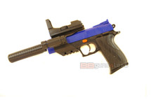 Vigor no2122-b2 Airsoft Spring Pistol with Light and Silencer