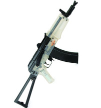 UHC AK74 SU Hybrid Dual System AEG BB gun Rifle in clear