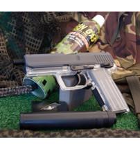 Blackviper tactical gas pistol with silencer