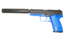 Blackviper USP Style Tactical Gas Pistol with Silencer in blue