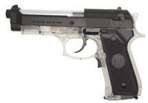 blackviper m92F electric blowback pistol in clear/black