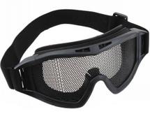 US Army Style Style Big Mesh Anti Fog Goggles in black