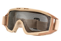 US Army Style Big Mesh Anti Fog Goggles in Tan