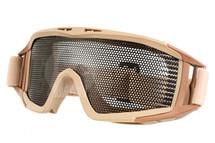 US Army Style Big Mesh Anti Fog Goggles in Tan
