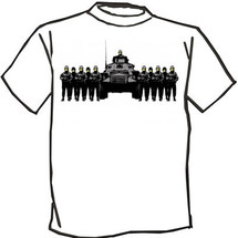 Banksy happy military police t-shirt