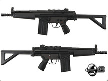 Jing Gong T3 Shorty MC51 RAS with Foldable Stock in Black