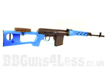A&K Russian SVD Dragunov Airsoft Sniper Rifle in blue
