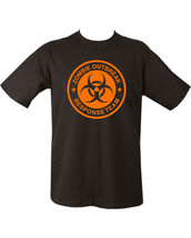 Zombie Outbreak T Shirt in black