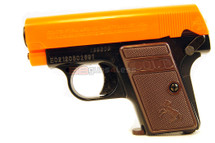 Colt 25 spring pistol black with orange slider