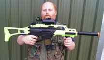 Double Eagle M85 G36 Replica in Radioactive green