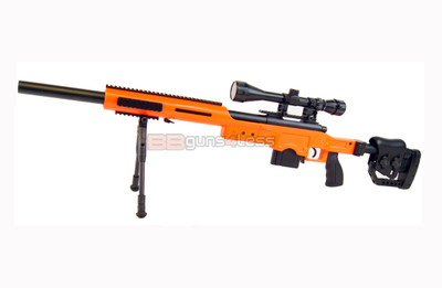 Well MB4410 Bolt action Sniper Rifle with scope & bipod in orange