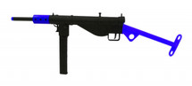 AGM STEN MKII Electric Airsoft BB Gun in full metal in blue