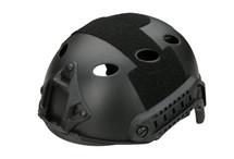 Fast Helmet with Rails inc Extra Internal Padding in black