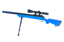 Well MB02 VSR10 Spring Airsoft Sniper Rifle in blue