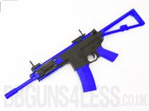 Bison C301 Replica PDW Airsoft Rifle BB gun in blue