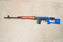 Bison 701 Russian SVD Dragunov Bolt Action Sniper Rifle in blue