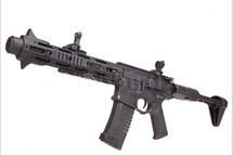 Ares Amoeba Honey Badger Airsoft AEG Rifle in Black