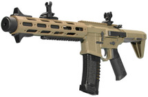 Ares Amoeba Honey Badger Airsoft AEG Rifle in Tan