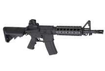 Cyma CM012 M4 CQB Carbine Rifle AEG with Navy Stock in Black