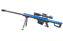 Snow Wolf Barrett M82 Sniper Rifle with Scope and bipod in Blue