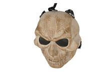 Skull Airsoft Mask MAS-57 in Tan