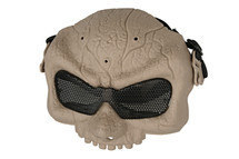 Half Skull Airsoft Mask MAS-58 in Tan