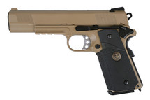 WE MEU M1911Full Metal Pistol GBB With Rail in Tan
