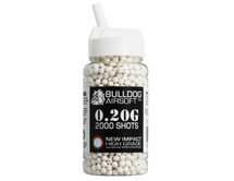 bulldog impact bb pellets 2000 x 0.20g speed loader in white