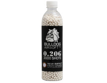 bulldog impact bb pellets 3000 x 0.20g in a bottle in white