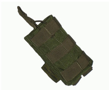 MOLLE SINGLE OPEN AMMO POUCH OLIVE GREEN