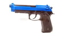 Snow Wolf Beretta M9A1 Tactical GBB Pistol Full Metal in Blue