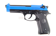 KJ Works M9 Full Metal Gas Pistol With Blowback in Blue