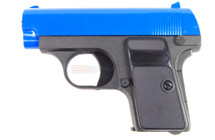 Galaxy G1 Metal Spring Pistol BB Gun in Blue