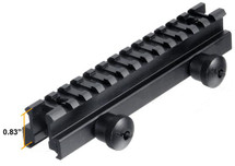 "UTG MNT-RS08L 0.83"" High 13-Slot Full Riser Mount"