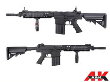 A&K SR-25K Full Metal Airsoft AEG Rifle With Crane Stock in Black