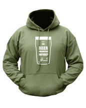 Kombat Beer Drinking Infidel Hoodie In Green