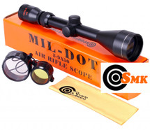 SMK 3-9 x 50 Mil-Dot Rifle scope Sight Hunting and Shooting Optics