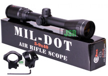 SMK Scope 3-9x40 mil-dot scope With Veriable Magnification